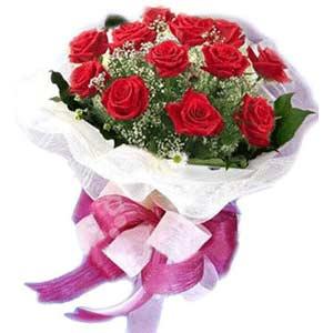 Kayseri çiçek çiçekçi mağazası  11 adet kırmızı güllerden buket modeli