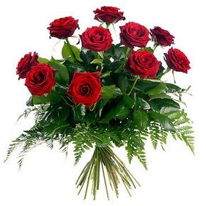 Kayseri çiçek ucuz çiçek gönder  10 adet kırmızı gülden buket