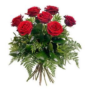Kayseri çiçek 14 şubat sevgililer günü çiçek  7 adet kırmızı gülden buket