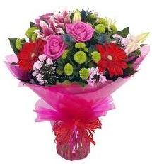 Karışık mevsim çiçekleri demeti  Kayseri çiçek 14 şubat sevgililer günü çiçek