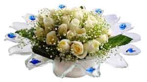 Kayseri çiçek güvenli kaliteli hızlı çiçek  11 adet Beyaz güller özel cam tanzim