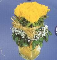 Kayseri çiçek çiçek mağazası , çiçekçi adresleri  Cam vazoda 9 Sari gül