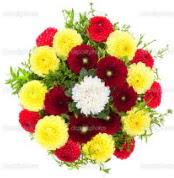 Kayseri çiçek internetten çiçek siparişi  13 adet mevsim çiçeğinden görsel buket