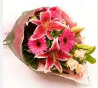 1 dal kazablanka ve mevsim çiçekleri  Kayseri çiçek cicekciler , cicek siparisi