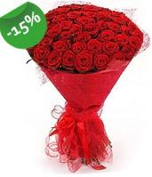 51 adet kırmızı gül buketi özel hissedenlere  Kayseri çiçek çiçek siparişi vermek