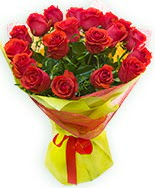 19 Adet kırmızı gül buketi  Kayseri çiçek uluslararası çiçek gönderme