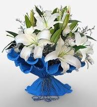 4 dal kazablanka çiçeğinden buket  Kayseri çiçek anneler günü çiçek yolla