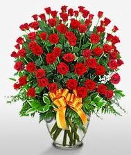 Görsel vazo içerisinde 101 adet gül  Kayseri çiçek anneler günü çiçek yolla