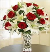 12 adet kırmızı gül 2 dal kazablanka vazosu  Kayseri çiçek çiçekçi mağazası