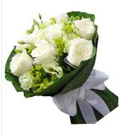9 adet beyaz gül buketi  Kayseri çiçek çiçek siparişi vermek