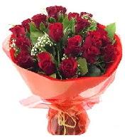 12 adet görsel bir buket tanzimi  Kayseri çiçek uluslararası çiçek gönderme