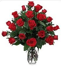 Kayseri çiçek çiçek siparişi vermek  24 adet kırmızı gülden vazo tanzimi