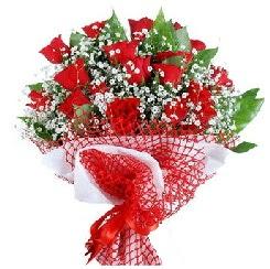 11 kırmızı gülden buket  Kayseri çiçek çiçek servisi , çiçekçi adresleri