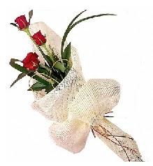 3 adet kırmızı gül buketi  Kayseri kocasinan çiçek İnternetten çiçek siparişi