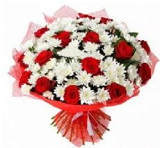11 adet kırmızı gül ve 1 demet krizantem  Kayseri çiçek online çiçekçi , çiçek siparişi