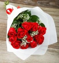 9 kırmızı gülden buket çiçeği  Kayseri çiçek ucuz çiçek gönder
