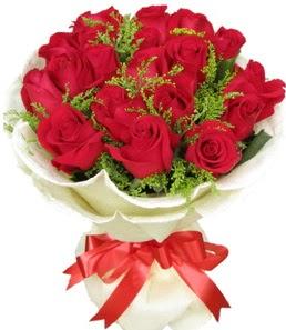 19 adet kırmızı gülden buket tanzimi  Kayseri çiçek yurtiçi ve yurtdışı çiçek siparişi