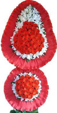 Kayseri çiçek 14 şubat sevgililer günü çiçek  Çift katlı kaliteli düğün açılış sepeti