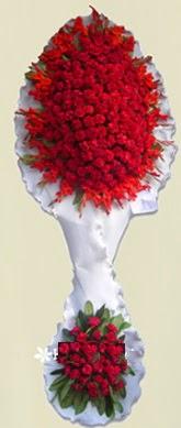 Çift katlı kıpkırmızı düğün açılış çiçeği  Kayseri çiçek çiçek mağazası , çiçekçi adresleri