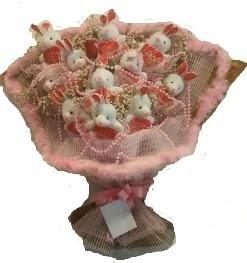 12 adet tavşan buketi  Kayseri çiçek online çiçekçi , çiçek siparişi