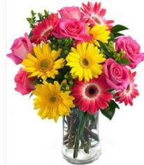 Vazoda Karışık mevsim çiçeği  Kayseri çiçek internetten çiçek siparişi