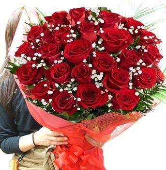Kız isteme çiçeği buketi 33 adet kırmızı gül  Kayseri çiçek çiçek satışı