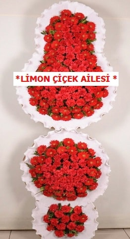 3 katlı kırmızı düğün açılış çiçeği  Kayseri çiçek ucuz çiçek gönder