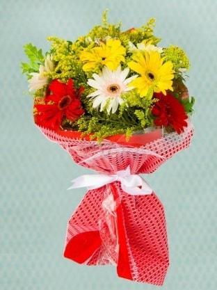 Karışık Gelbera Buketi  Kayseri çiçek çiçek siparişi vermek