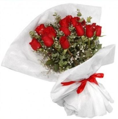 9 adet kırmızı gül buketi  Kayseri çiçek internetten çiçek siparişi