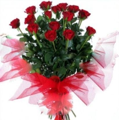15 adet kırmızı gül buketi  Kayseri çiçek anneler günü çiçek yolla