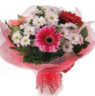 Gerbera ve kır çiçekleri buketi  Kayseri çiçek cicekciler , cicek siparisi