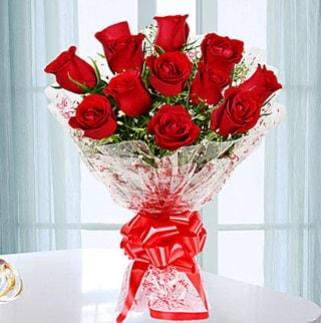 11 adet kırmızı gülden görsel şık buket  Kayseri çiçek internetten çiçek satışı