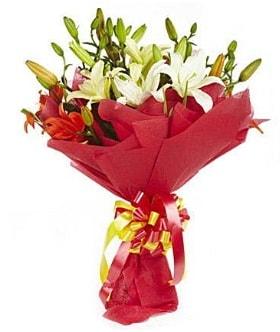 5 dal kazanlanka lilyum buketi  Kayseri çiçek çiçek satışı