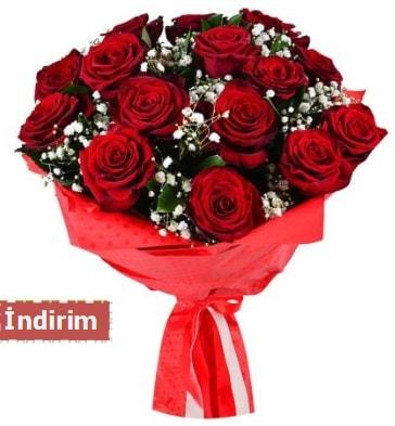 12 Adet kırmızı aşk gülleri  Kayseri çiçek çiçekçi mağazası