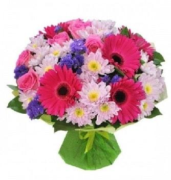 Karışık mevsim buketi mevsimsel buket  Kayseri çiçek çiçekçi mağazası
