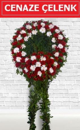 Kırmızı Beyaz Çelenk Cenaze çiçeği  Kayseri akkışla çiçek çiçekçi telefonları