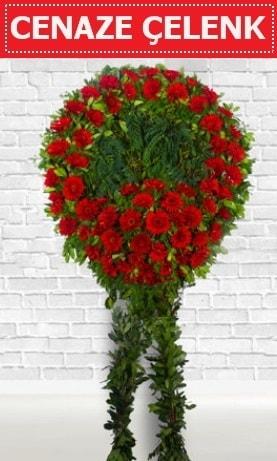 Kırmızı Çelenk Cenaze çiçeği  Kayseri akkışla çiçek çiçekçi telefonları