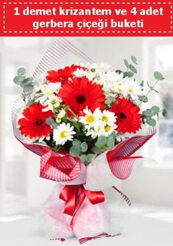 Krizantem ve Gerbera Buketi  Kayseri çiçek çiçek siparişi vermek