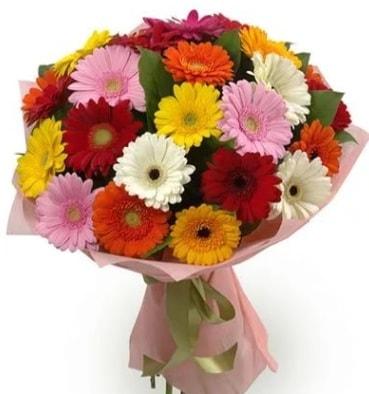Karışık büyük boy gerbera çiçek buketi  Kayseri çiçek çiçekçi mağazası